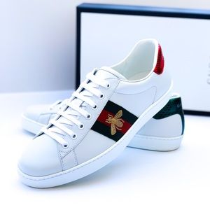 Gucci White Ace Embroidered Ayers Sneaker 9/10US